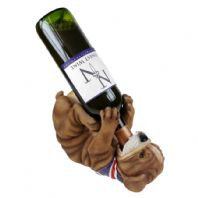 Guzzlers Bulldog wearing Union Flag Wine Bottle Holder